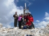 "A German group on the top of the Pirin Mountains / Gruppe aus Deutschland ""auf dem Dach des Pirin-Gebirges"""