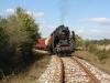 Steam loco 01.23 pulling freight wagons / Dampflok 01.23 zieht Güterwagen