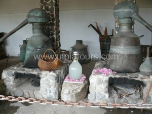 Traditional method of rose distillation